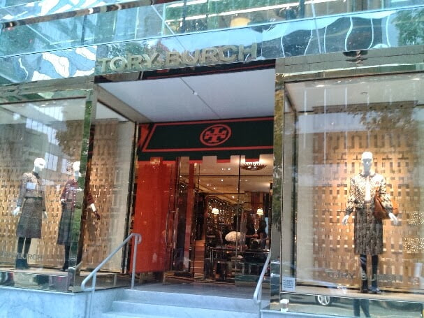 Tory Burch location on Alberni Street in Vancouver.