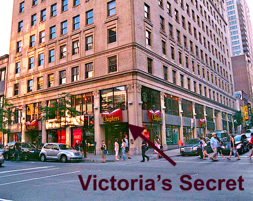 Chapter's Bookstore at 1171 Saint Catherine Street W in Montreal where Victoria's Secret will replace