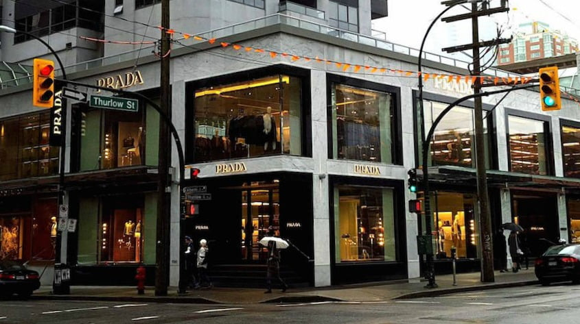 Prada on Thurlow Street in Vancouver.