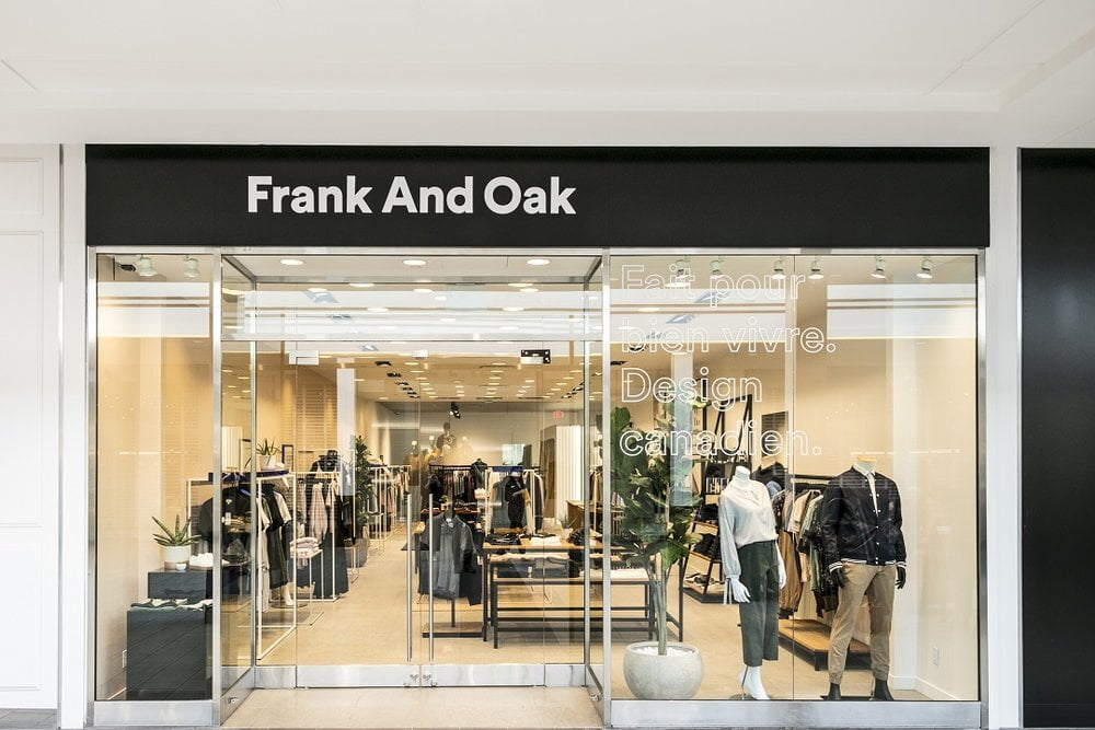 Frank And Oak storefront - Photo by Retail Insider