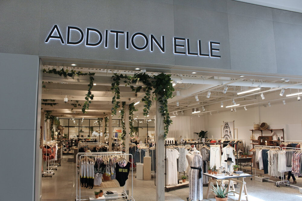 Exterior of Addition Elle Store - Photo by Addition Elle