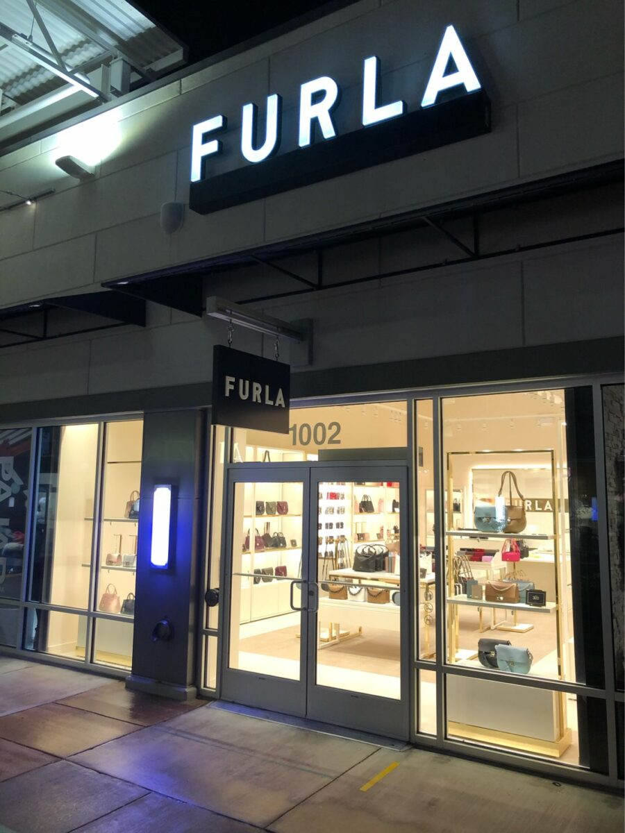 Exterior of Furla Store at Toronto Premium Outlets. Photo: Jorge Cabrera