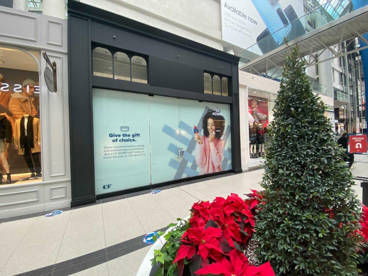 Exterior of future Jo Malone store in CF Toronto Eaton Centre. Photo: Dustin Fuhs