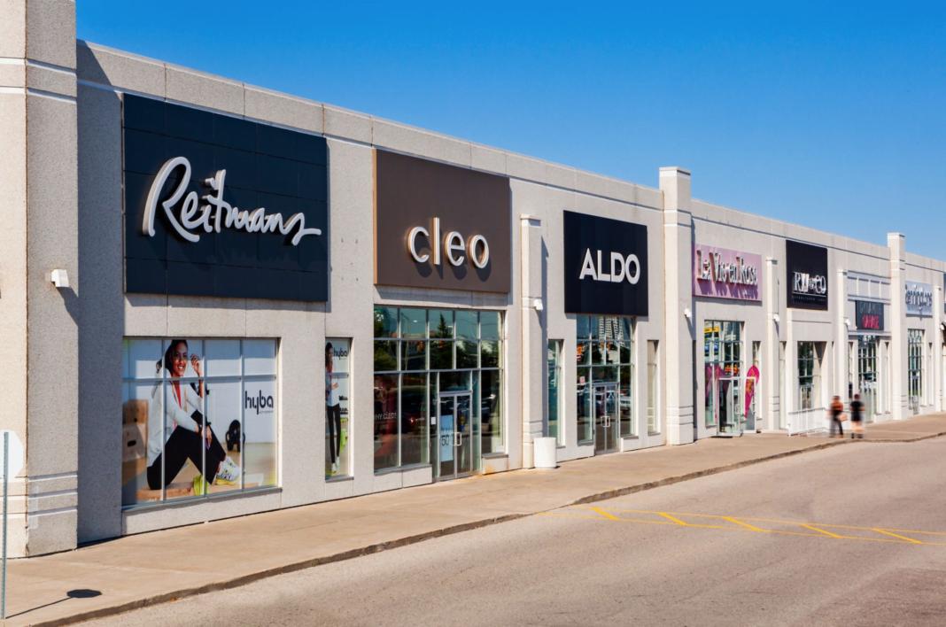exterior row of retailers heartland town centre
