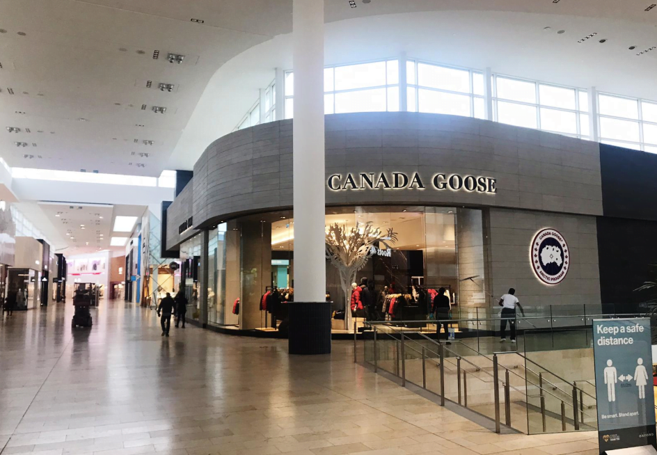 EXTERIOR OF CANADA GOOSE STORE AT YORKDALE SHOPPING CENTRE. PHOTO: JM
