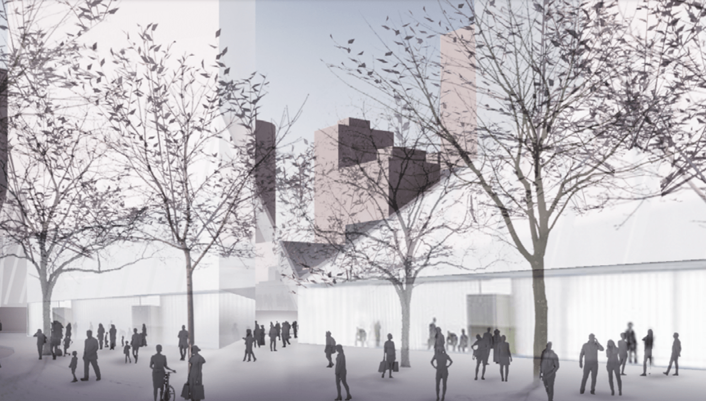 Rendering of the 1045 Haro Street Vancouver retail podium. Rendering Intracorp