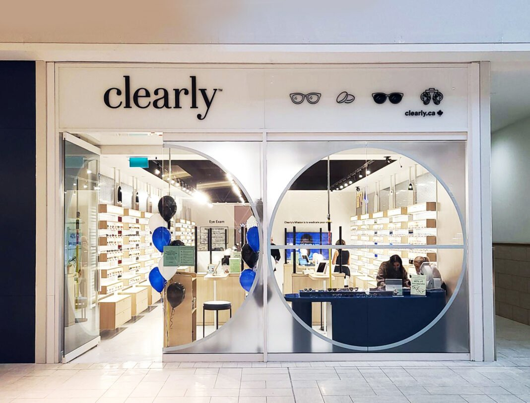 Exterior of new Clearly store in CF Chinook Centre. Photo: Clearly