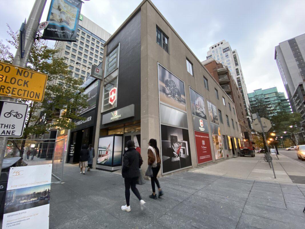 Exterior of Victorinox store on Bloor Street. Photo: Craig Patterson