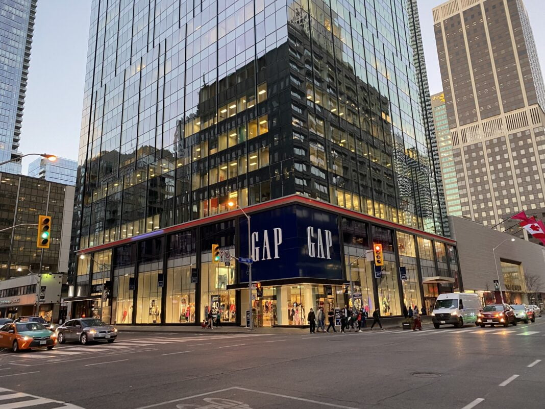 The Gap store on Toronto's Bloor Street. Photo: Craig Patterson