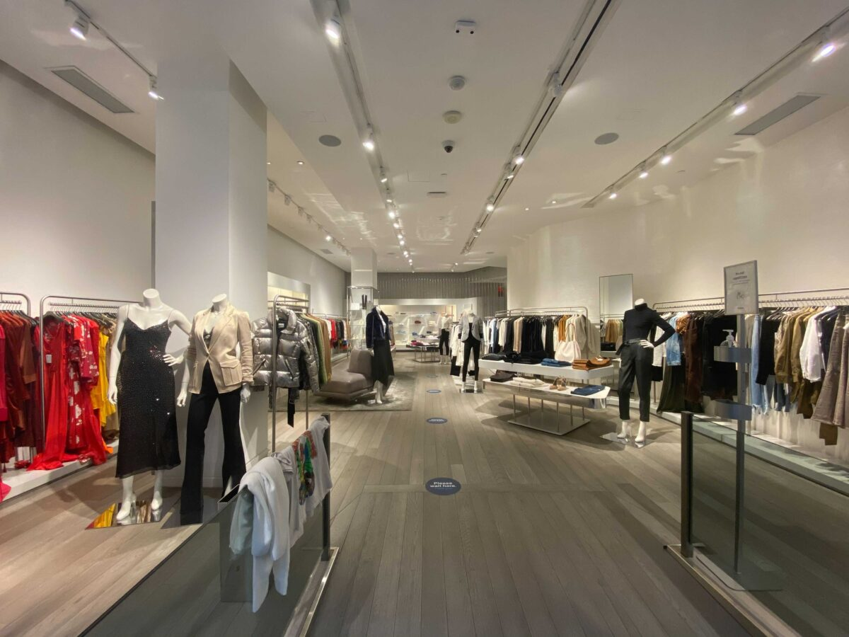 Interior of Intermix store before the brand's imminent departure from Canada. Photo: Craig Patterson