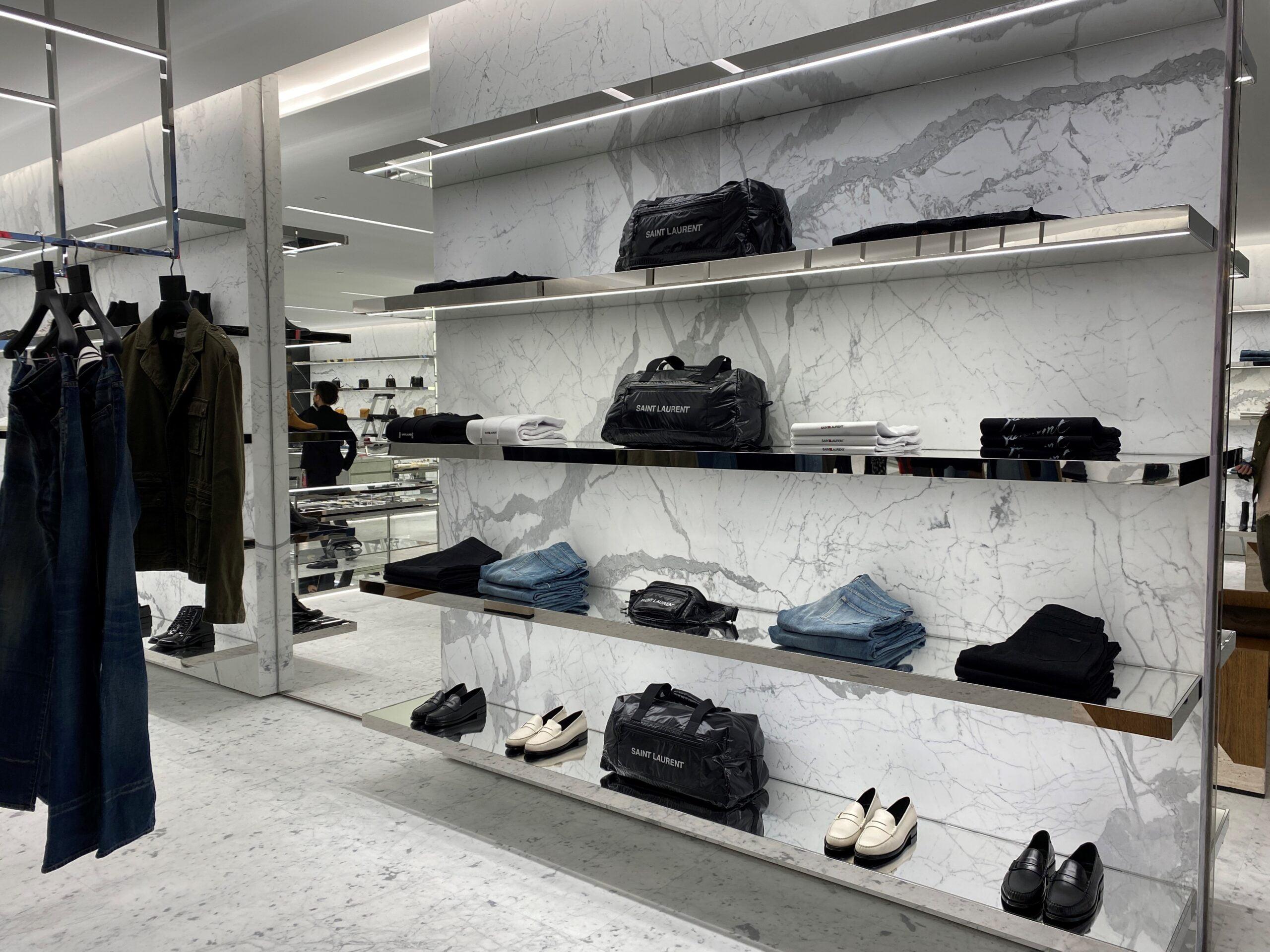 Interior of new Saint Laurent store at WEM. Photo: West Edmonton Mall