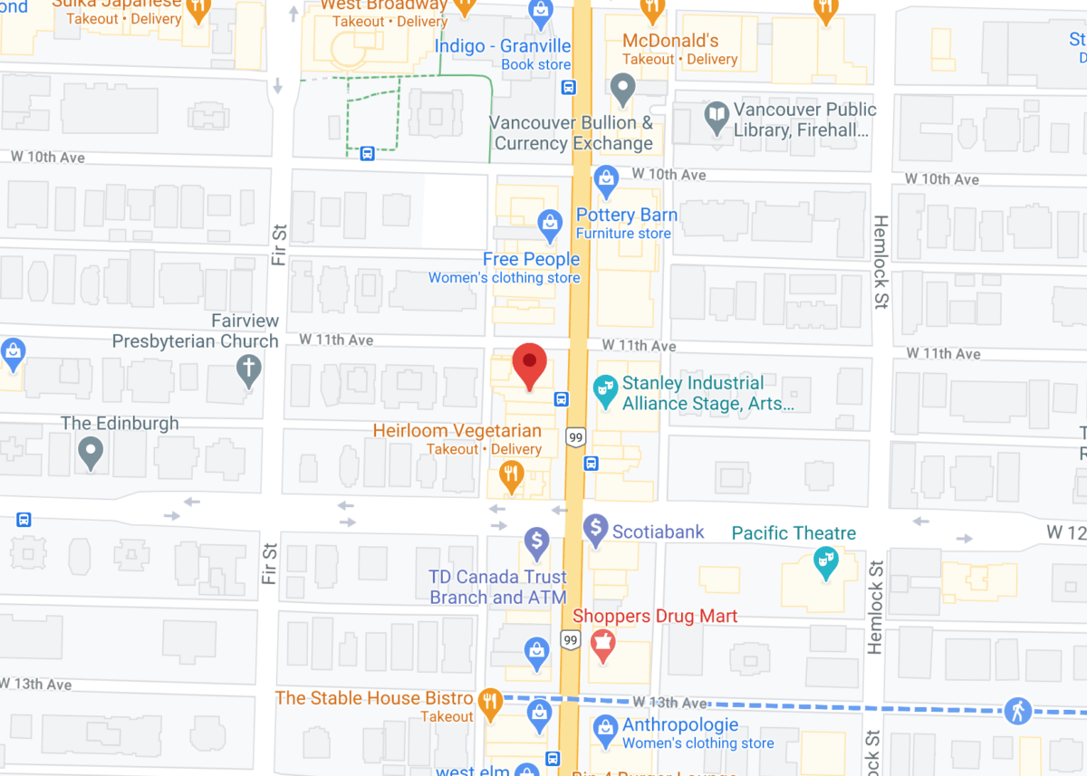 Interactive Google Map of 2715 Granville St and surrounding area