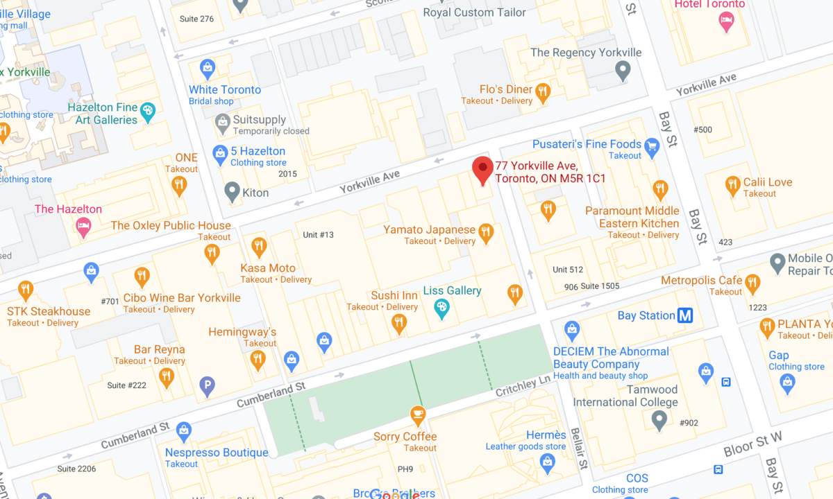 Interactive Google Map of 77 Yorkville Avenue and surrounding area