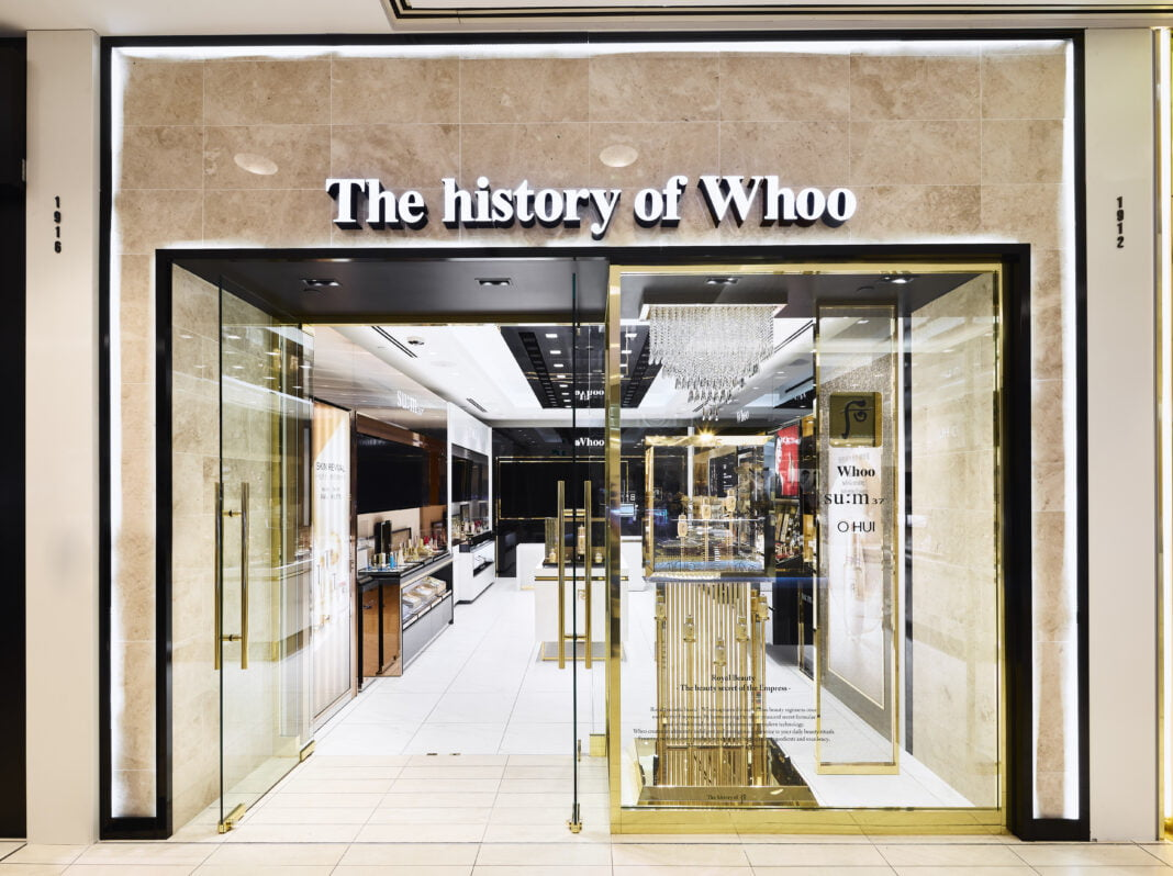 The history of Whoo storefront. Photo: The history of Whoo