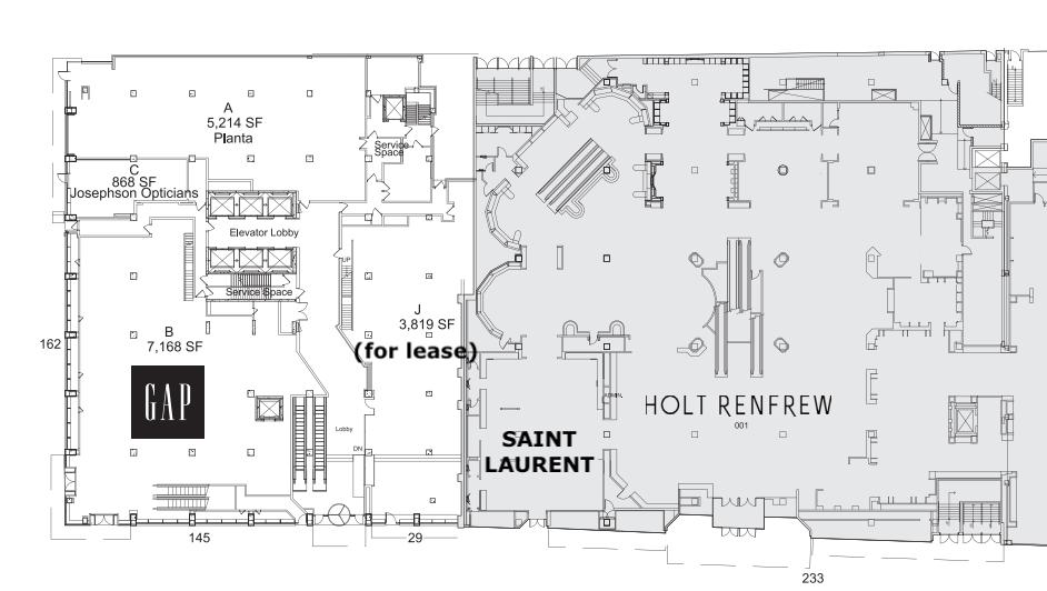 50-60 Bloor Street West ground floor lease plan. Image: Morguard