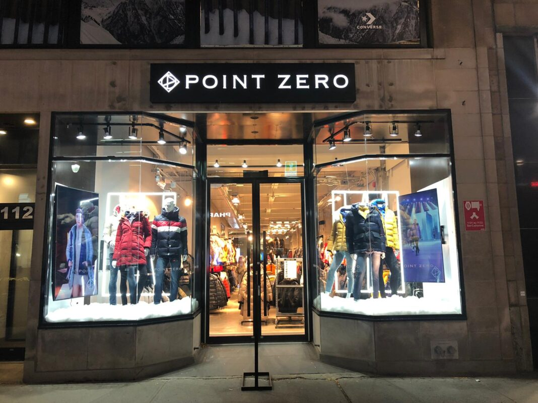Exterior of a Point Zero store. Photo: Point Zero