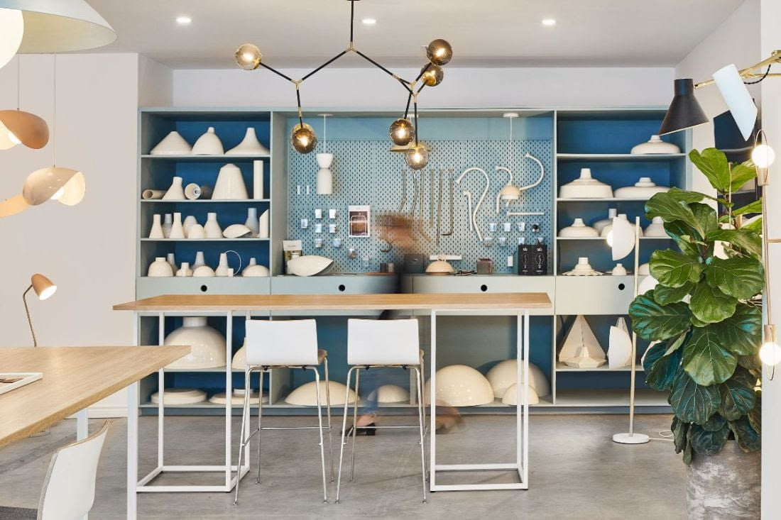 New Luminaire Authentik showroom in Toronto. Photo: Luminaire Authentik