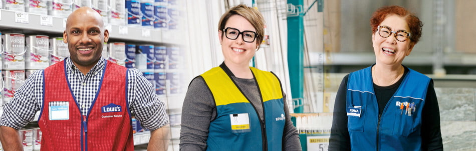 As part of its major spring hiring campaign, Lowe's Canada hopes to fill over 7,000 full-time and part-time positions throughout its network of Lowe's, RONA, and Reno-Depot corporate stores across the country in preparation for the home improvement industry's busiest season. Photo: Lowe's
