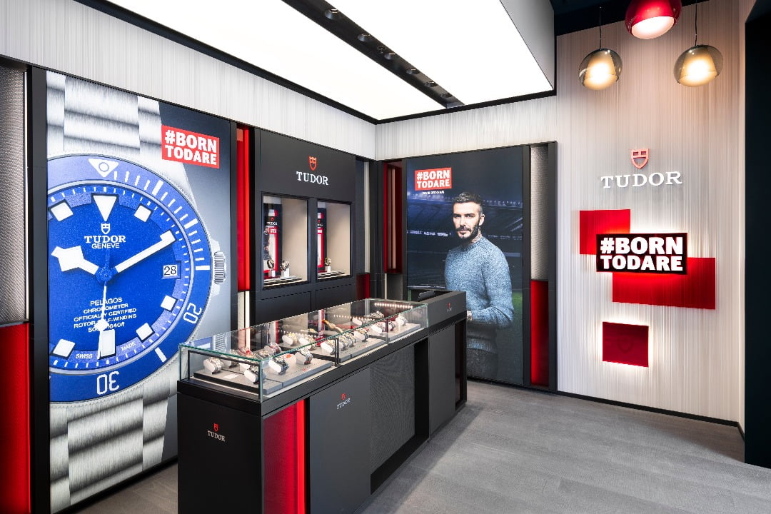 Interior of new Tudor boutique in Yorkdale Shopping Centre. Photo: Tudor