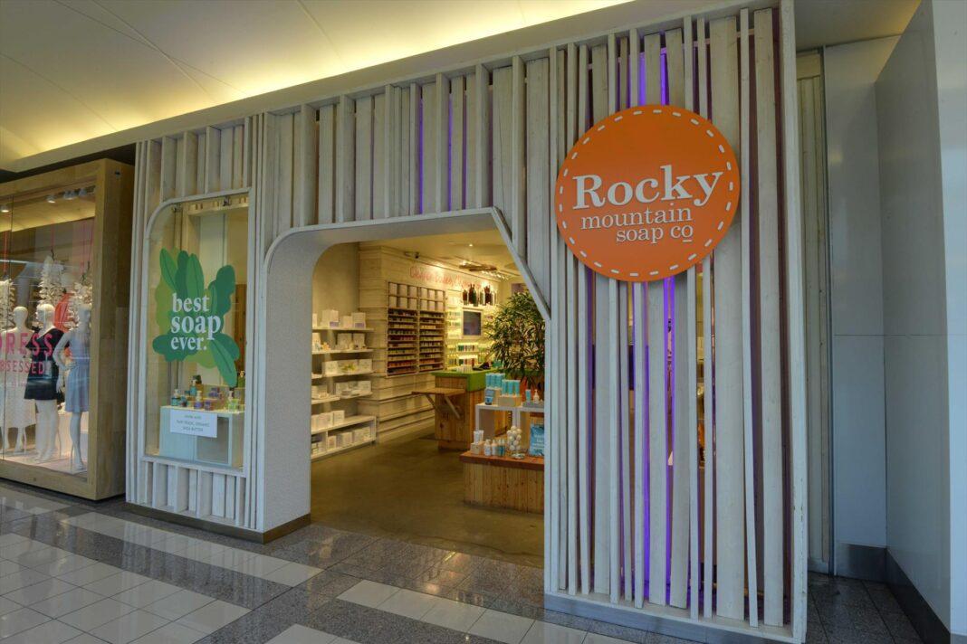 Exterior of Rocky Mountain Soap Company store in Burnaby. Photo: Ivanhoe Cambridge
