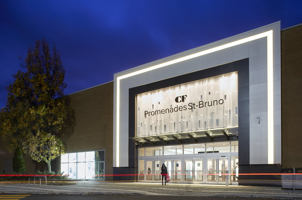 Exterior of CF Promenades St-Bruno. Photo: CF Promenades St-Bruno