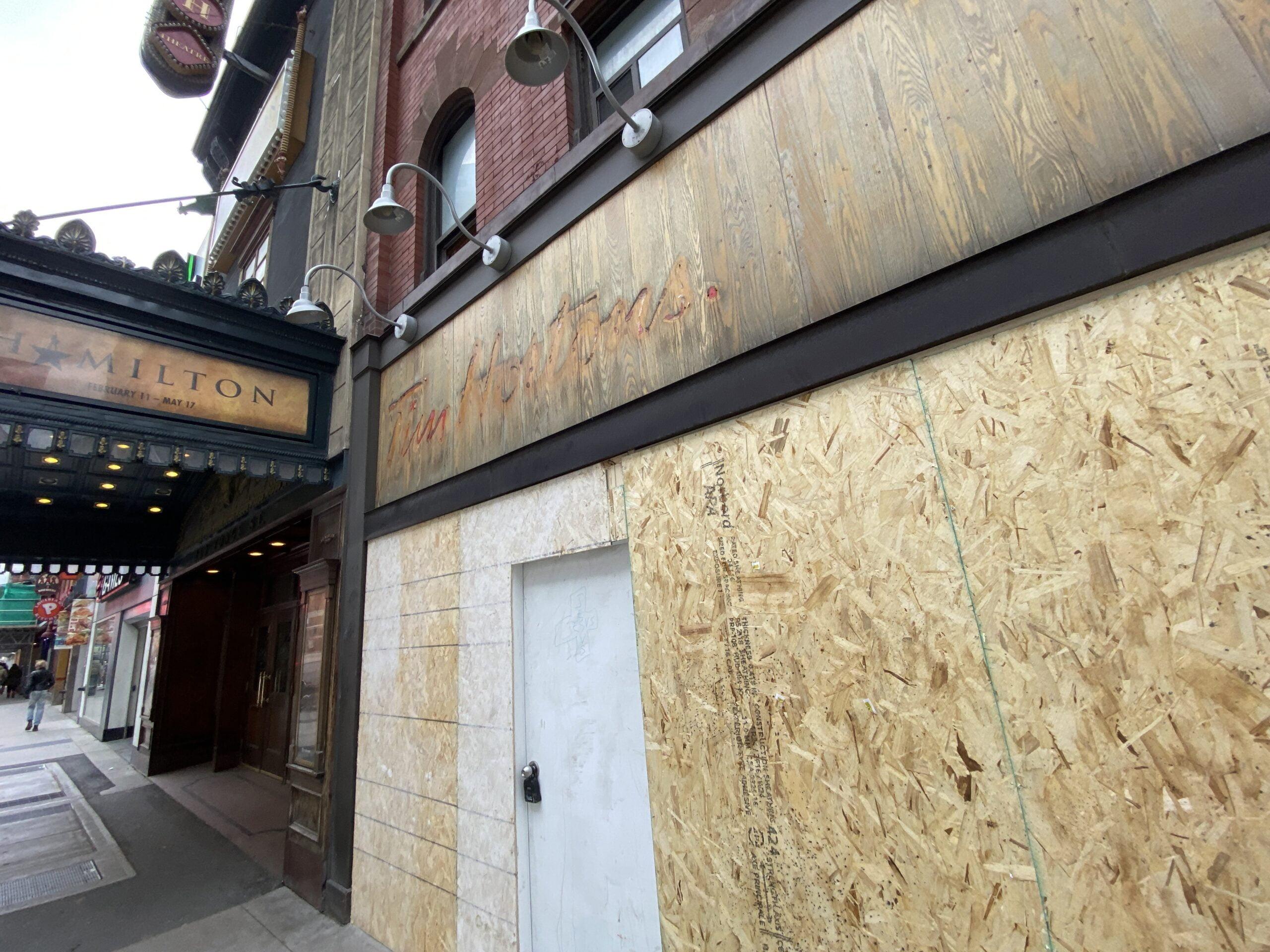 Shuttered Tim Hortons in Toronto. Photo: Dustin Fuhs