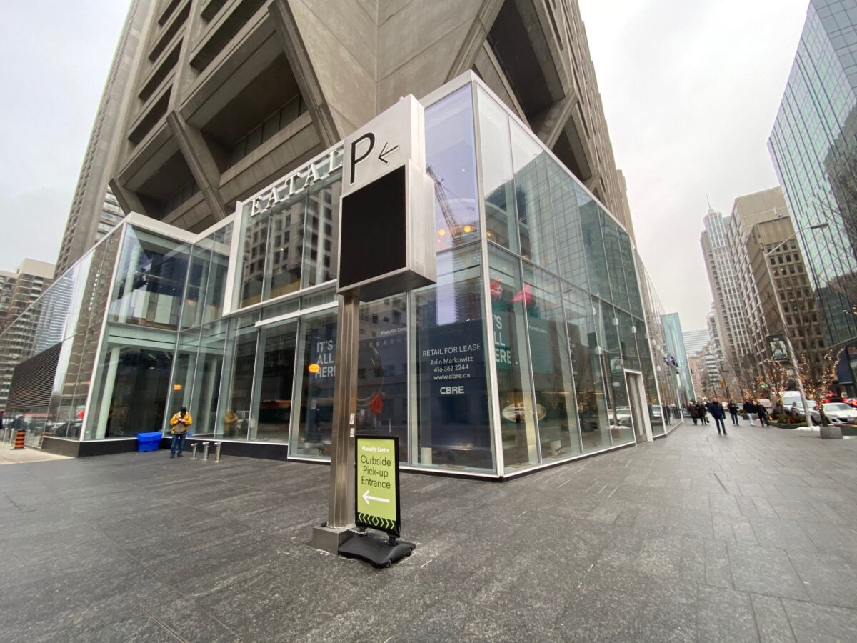Corner of The Manulife Centre where the new LCBO is set to go. Photo: Craig Patterson