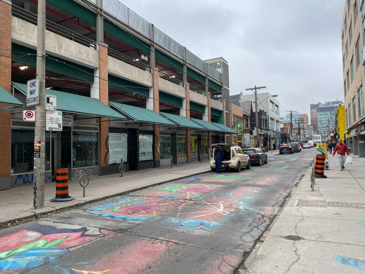 Deserted street in Kensington Market. Photo: Dustin Fuhs (12 January 2021)