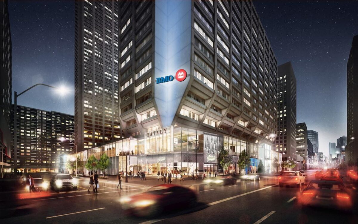 Rendering of The Manulife Centre Podium at 55 Bloor Street West