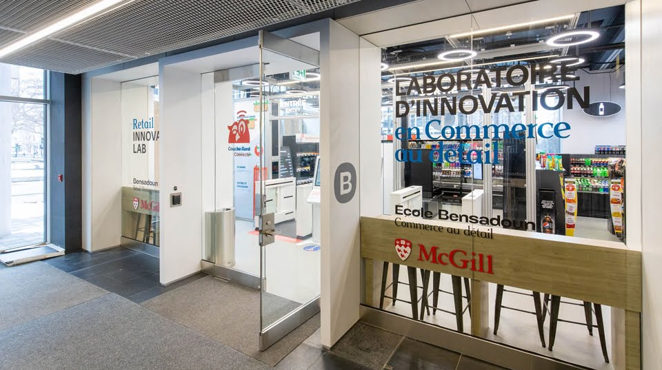 Entrance to the Retail Innovation Lab on the McGill University campus.