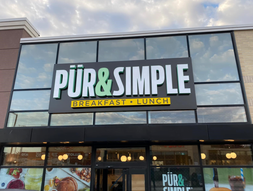 Exterior of Pür & Simple store. Photo: Pür & Simple