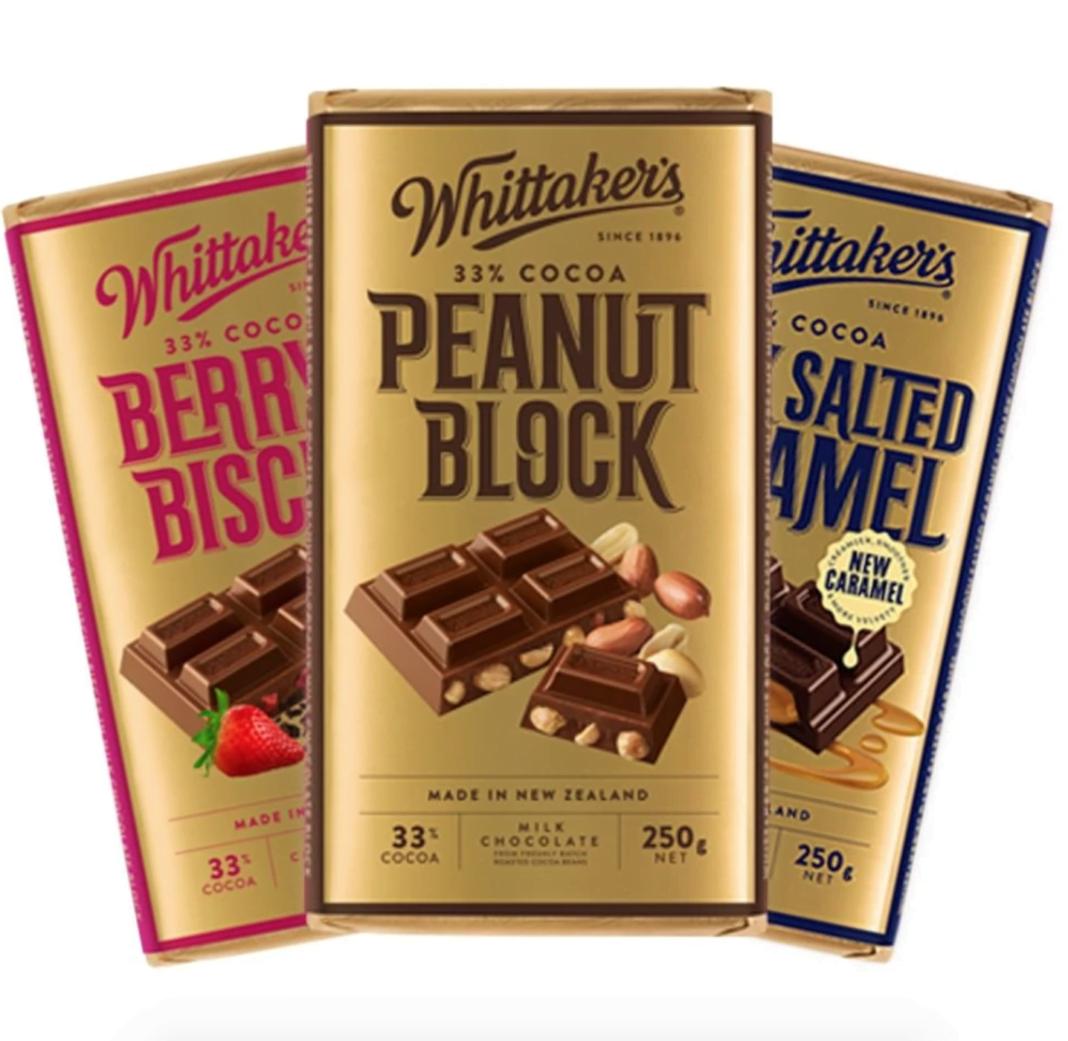 Whittaker's chocolate. Photo: Whittaker's