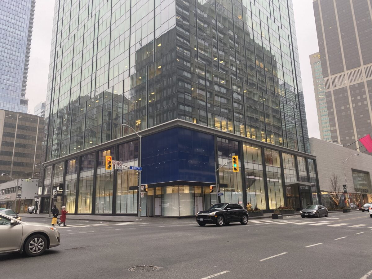 The Gap on Bloor Street West. Photo: Craig Patterson (January 14 2021)