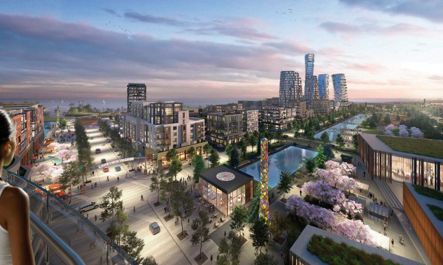 Rendering of Lakeview Village - Cicada Design | ©Lakeview Community Partners Limited
