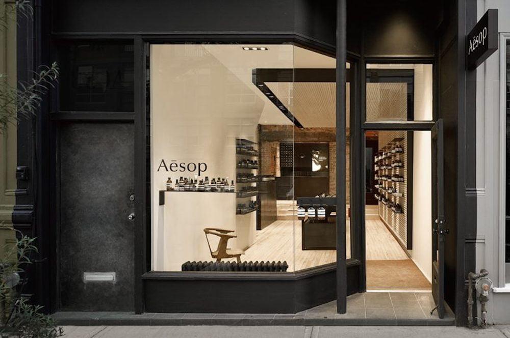 Exterior of Aesop store on Toronto's Queen Street West. Image: Aesop