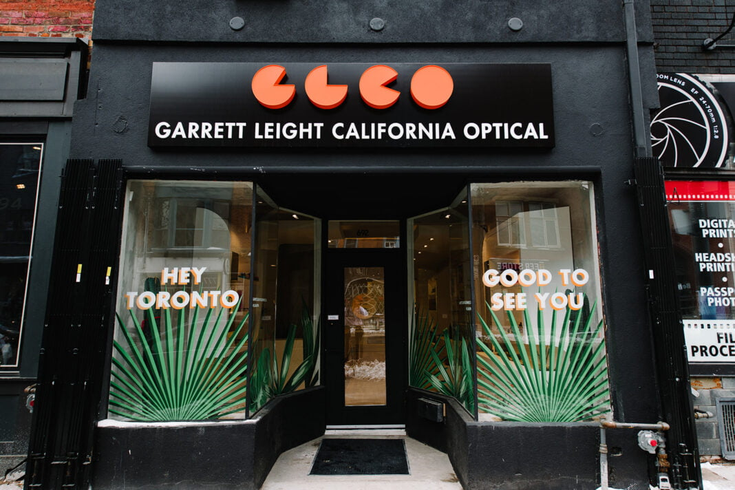 Exterior of new Garret Leight store on Toronto's Queen Street West. Photo: Katherine Barcsay