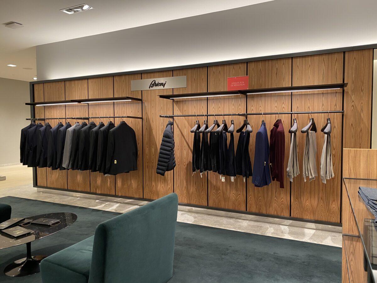 Interior of Brioni store that is set to leave Holt Renfrew Ogilvy. Photo: Maxime Frechette
