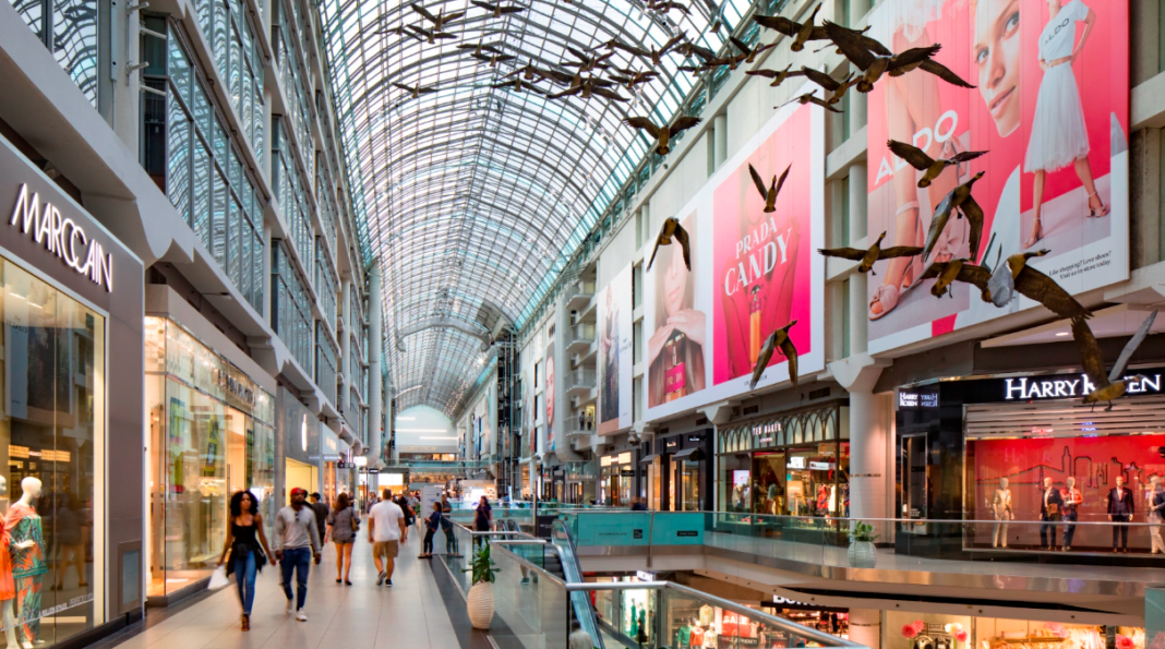 Interior of CF Toronto Eaton Centre