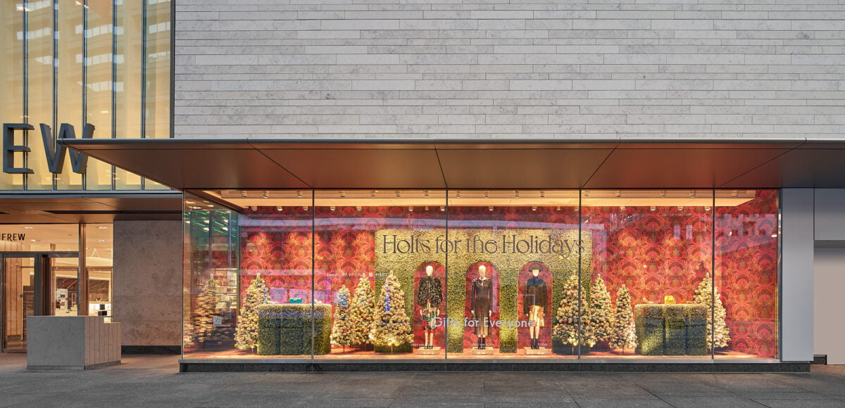 Renovated Holt Renfrew facade on Bloor Street. Photo: Doublespace Photography