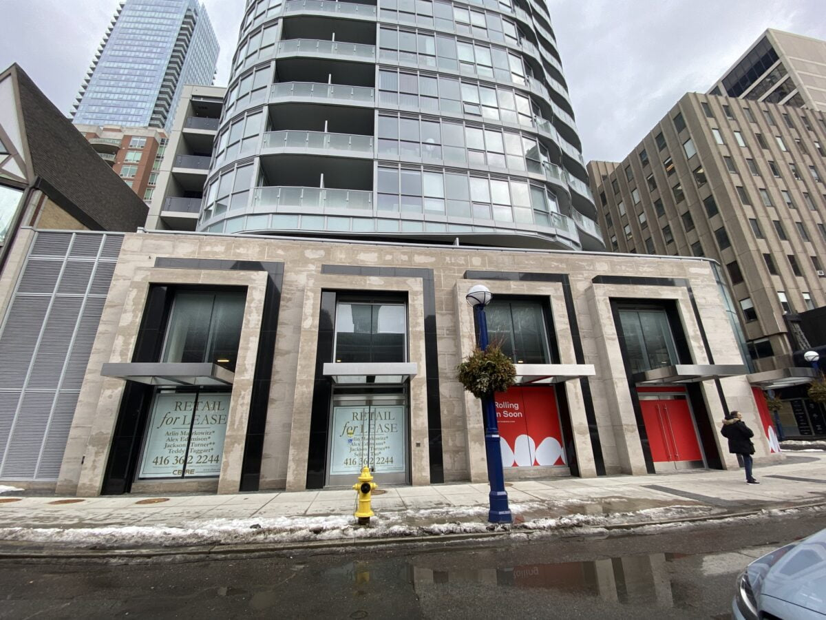 Leased space on 94 Cumberland Street. Photo: Craig Patterson