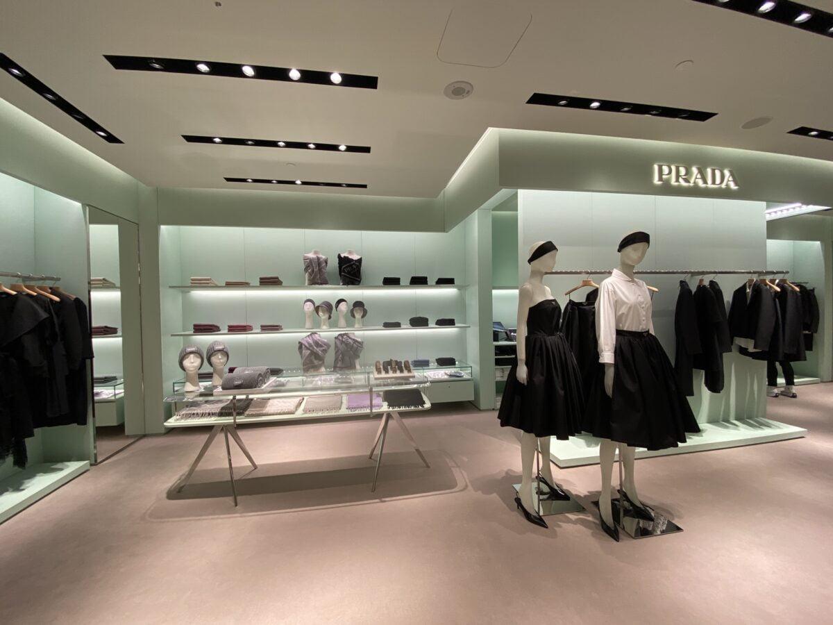 Interior of new Prada store in Montreal's Holt Renfrew Ogilvy. Photo: Maxime Frechette