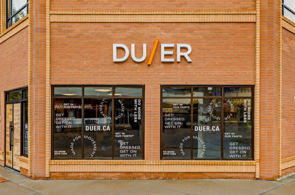 Exterior of new DUER store in Kitsilano. Photo: DUER