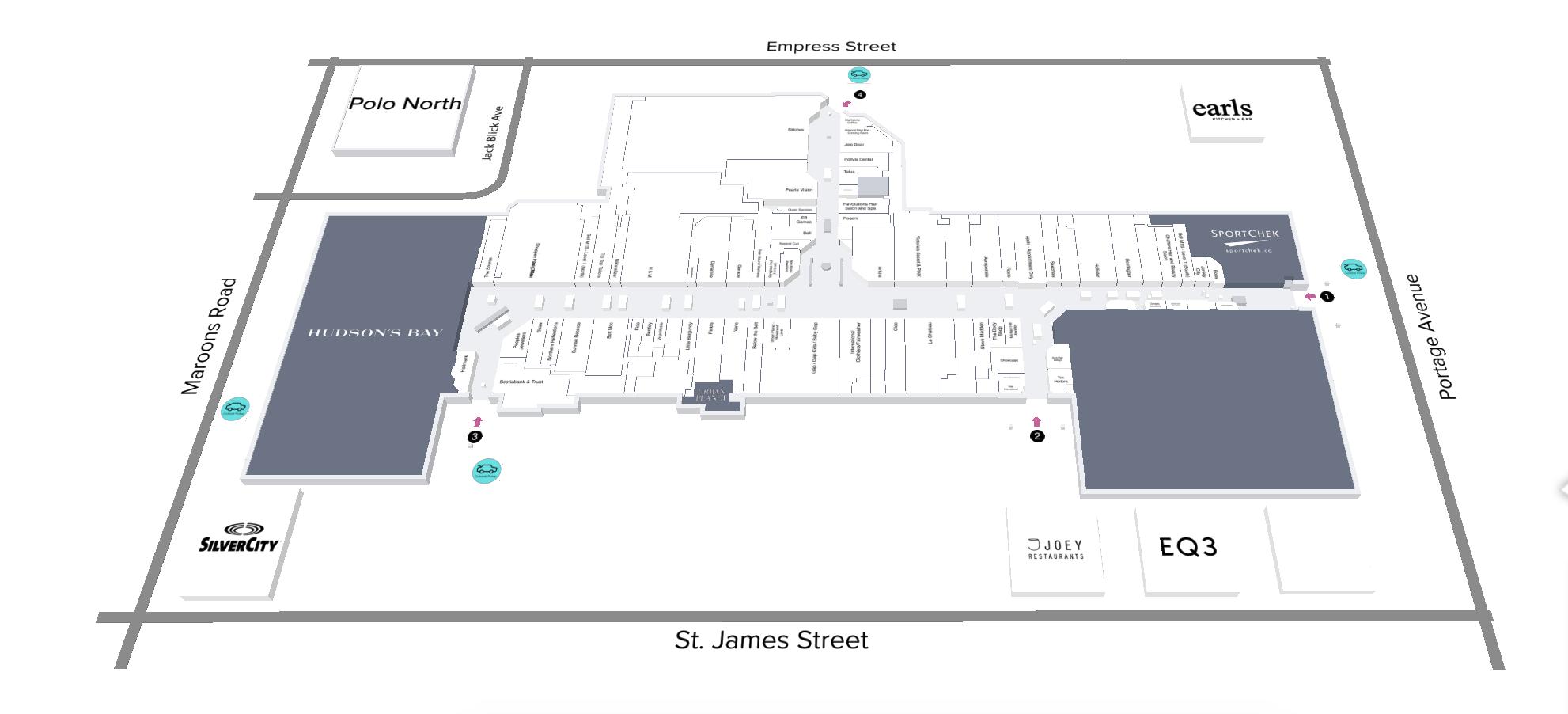 Map of CF Polo Park Shopping Centre. Photo: CF Polo Park