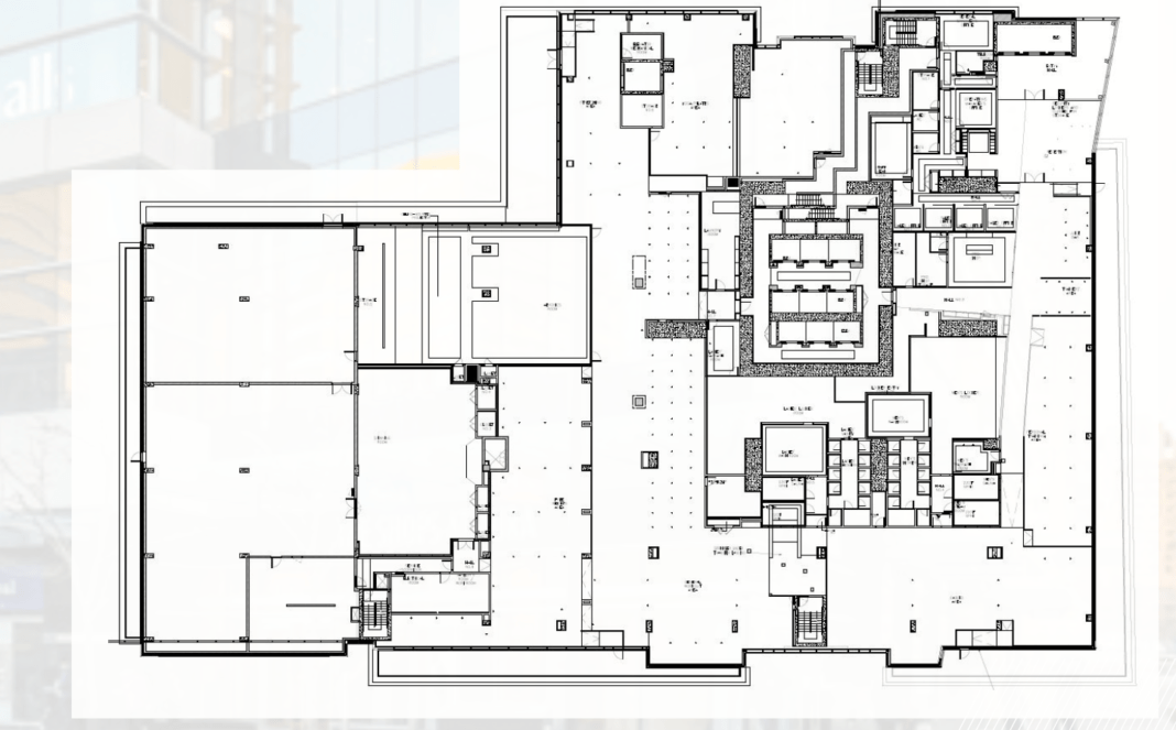 Map of the 4th floor of Aura at College Park. Image: Cushman and Wakefield