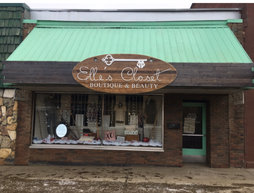 Exterior of Elle's Closet in Athabasca. Photo: Google Images