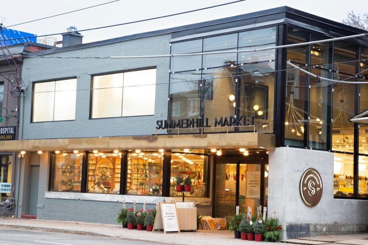 Exterior of Summerhill Market location in The Annex. Photo: Summerhill Market