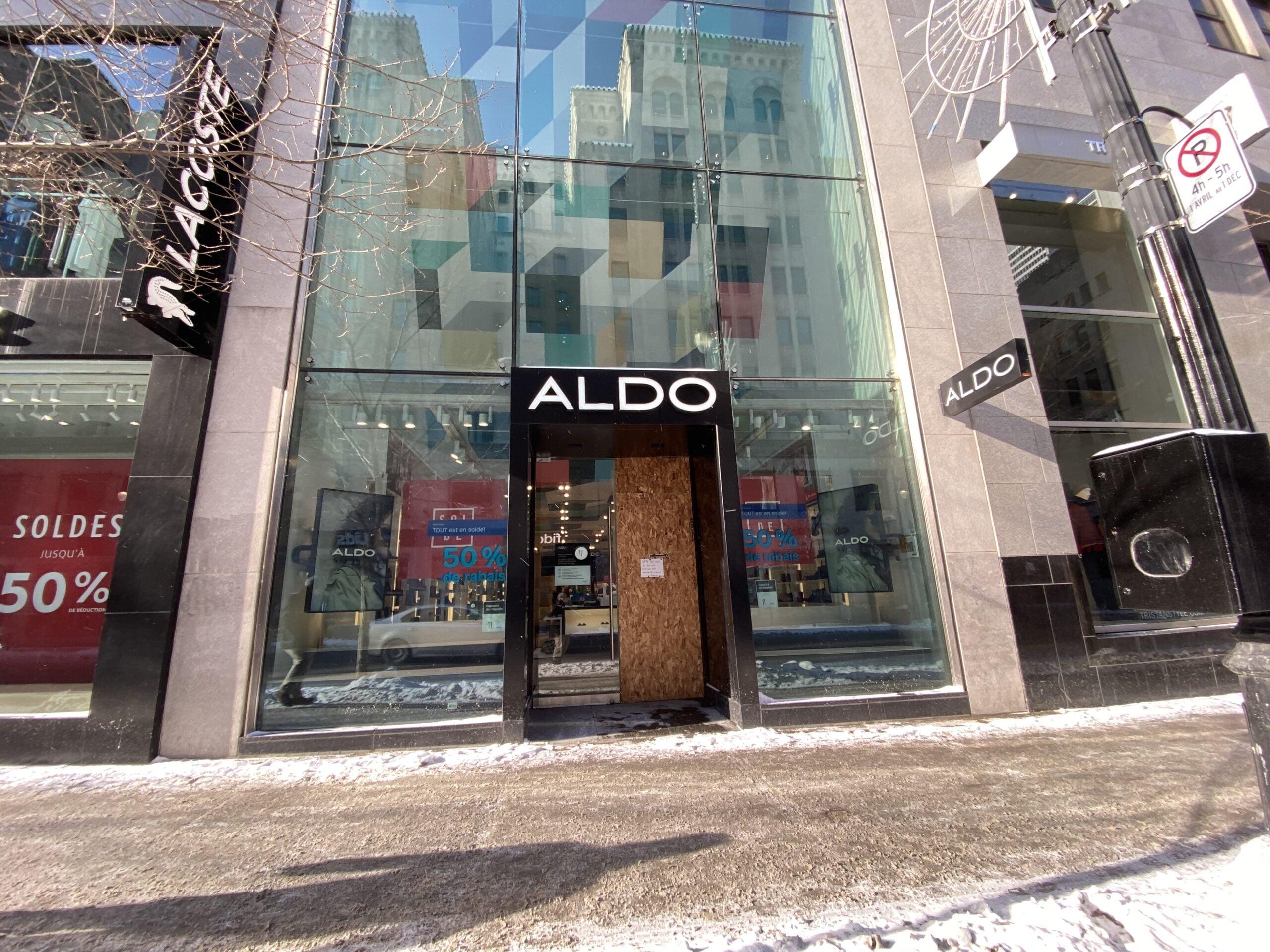 Aldo on Saint-Catherine St W