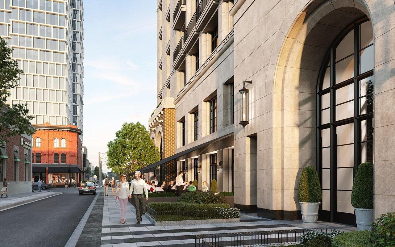 Looking east along Marlborough Avenue. Designed by Audax for Devron Developments. Rendering: Urban Toronto