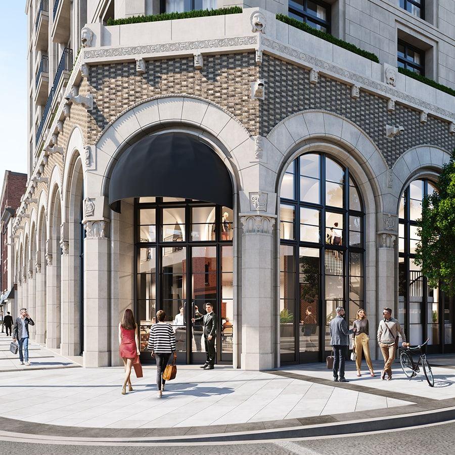 Yonge Street Facade. Designed by Audax for Devron Developments. Rendering: Urban Toronto