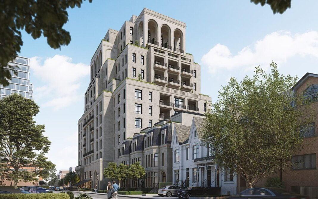 Rendering of 1140 Yonge Street. Designed by Audax for Devron Developments. Rendering: Urban Toronto